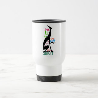 Greyhound Italian My Dog Love Elegant Silhouette Travel Mug