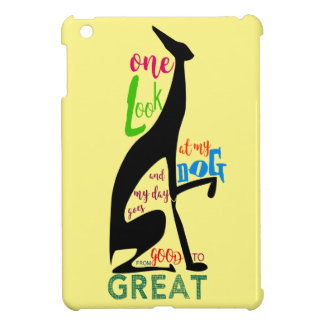 Greyhound Italian Silhouette Love My Dog Stylish Case For The iPad Mini
