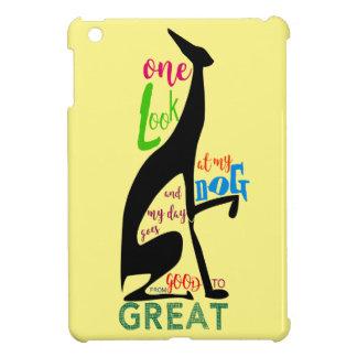 Greyhound Italian Silhouette Love My Dog Stylish iPad Mini Covers