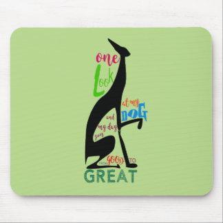 Greyhound Italian Silhouette Love My Dog Stylish Mouse Pad