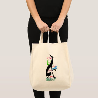 Greyhound Italian Silhouette Love My Dog Stylish Tote Bag