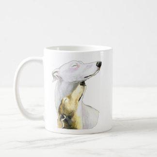 """Greyhound Love"" Dog Art Mug"