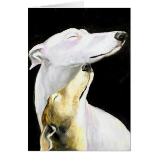 Greyhound Love Dog Art Note Card