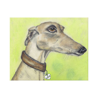GREYHOUND LOVE g316 Canvas Print