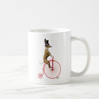 Greyhound on Red Penny Farthing Bike Coffee Mug