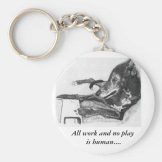 Greyhound on the computer sketch keychain