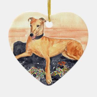 'Greyhound' Ornament