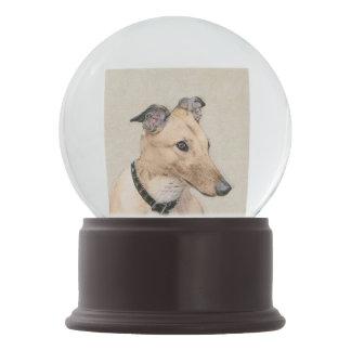 Greyhound Painting - Cute Original Dog Art Snow Globe
