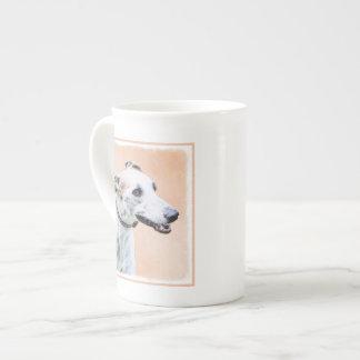 Greyhound Painting - Cute Original Dog Art Tea Cup