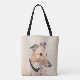Greyhound Painting - Cute Original Dog Art Tote Bag