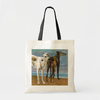 Greyhound Painting - Two Greyhounds - Vintage Art Tote Bag
