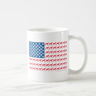 Greyhound Patriotic Flag Coffee Mug