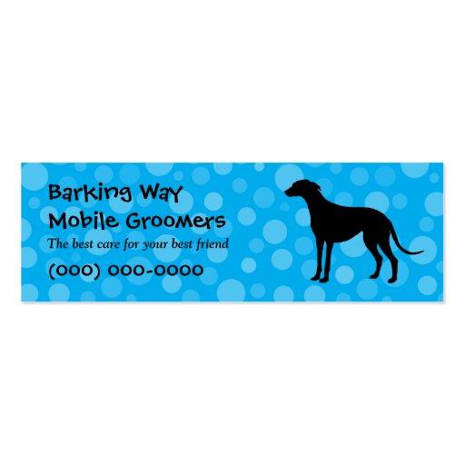 Greyhound Pet Care Blue Business Card Templates