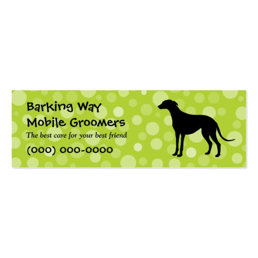Greyhound Pet Care Lime Business Card Templates