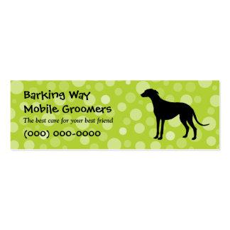 Greyhound Pet Care Lime Mini Business Card