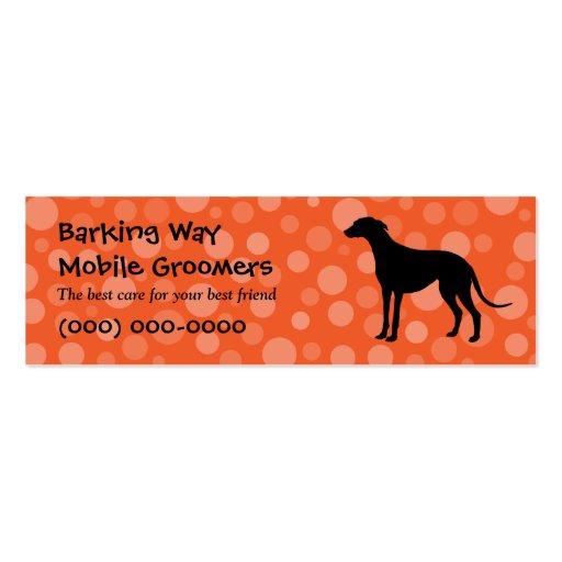 Greyhound Pet Care Orange Business Card Template