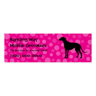 Greyhound Pet Care Pink Pack Of Skinny Business Cards