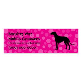 Greyhound Pet Care Pink Mini Business Card