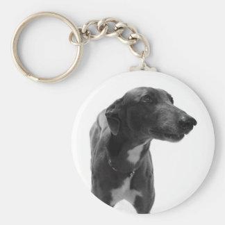 Greyhound Photo Keychain