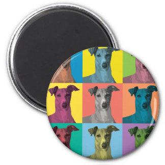 Greyhound Pop-Art Magnet