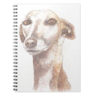 Greyhound portrait notebooks