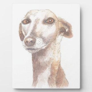 Greyhound portrait plaque