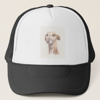 Greyhound portrait trucker hat