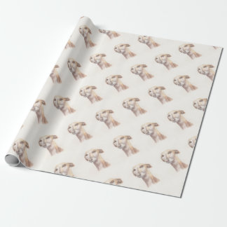 Greyhound portrait wrapping paper