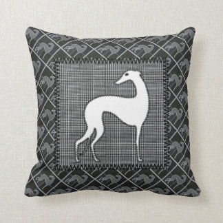 Greyhound Prince of Wales Throw Pillow