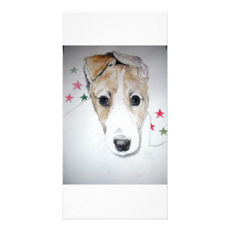 Greyhound Puppy Personalized Photo Card