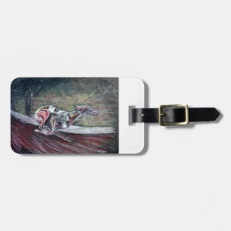 Greyhound, racing art for sports and dog lovers. luggage tag