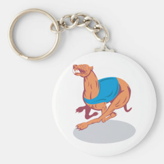 Greyhound Racing Keychain