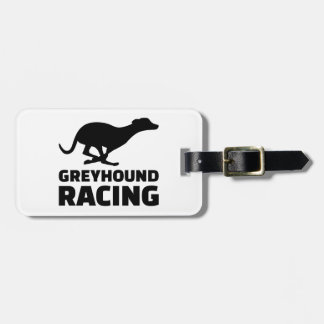 Greyhound racing luggage tag