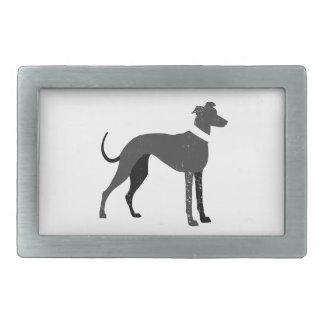 Greyhound Rectangular Belt Buckle
