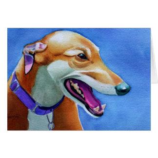 Greyhound Rescue Dog Card