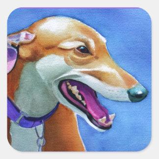 Greyhound Rescue Square Sticker