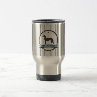 Greyhound Retired Racer 45 mph Lazy Dog 15 Oz Stainless Steel Travel Mug
