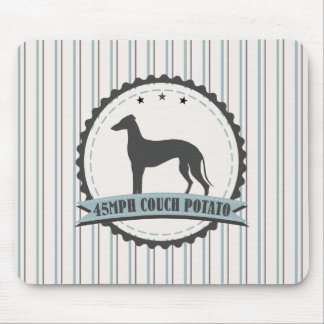 Greyhound Retired Racer 45mph Lazy Dog Mousepads