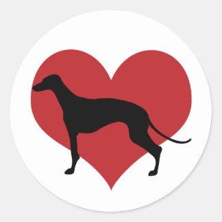 Greyhound Round Sticker