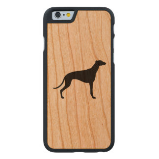 Greyhound Silhouette Carved Cherry iPhone 6 Case