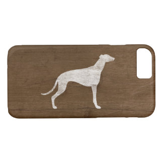 Greyhound Silhouette Rustic iPhone 8/7 Case