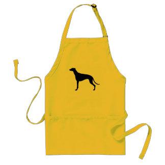 Greyhound Silhouette Standard Apron