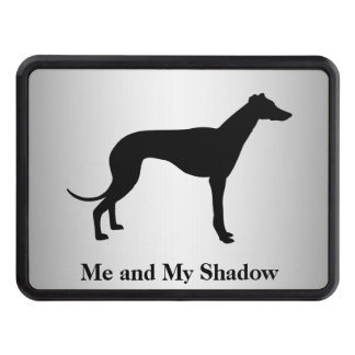 Greyhound Silhouette Trailer Hitch Cover