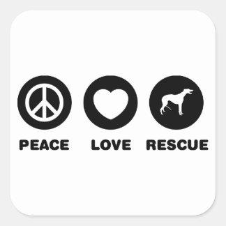 Greyhound Square Sticker