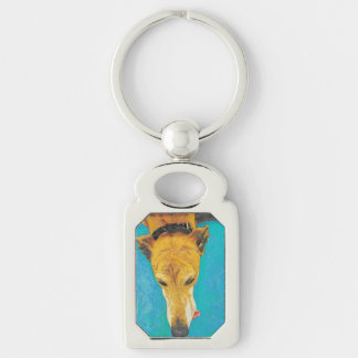 Greyhound tongue (ETS) keychain