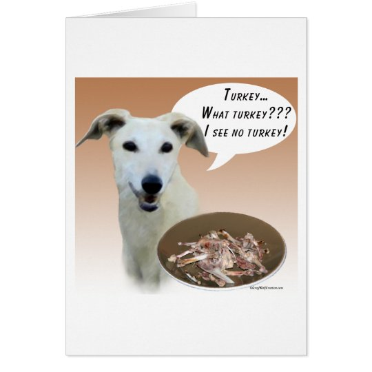 Greyhound Turkey Card