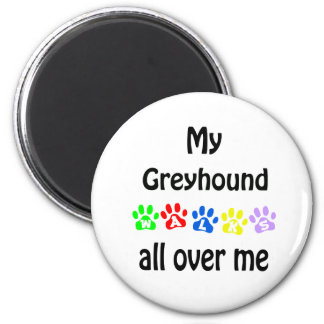 Greyhound Walks Design Magnet