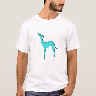 Greyhound/Whippet blue silhouette T-shirts