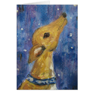 Greyhound Whippet Christmas Note Card