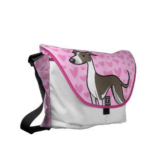 Greyhound / Whippet / Italian Greyhound Love Courier Bag